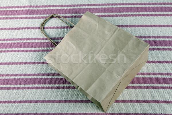Barna papír bevásárlószatyor gyönyörű táska piac bolt Stock fotó © mcherevan
