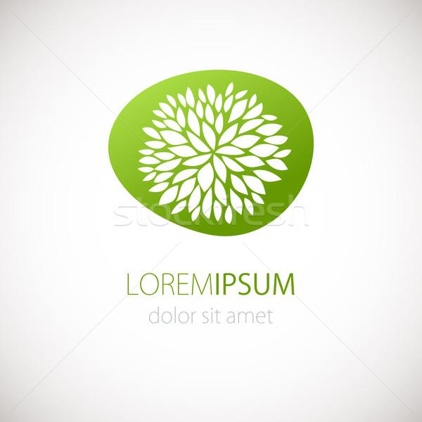 ロゴタイプ デザイン 花 緑 ベクトル バナー ストックフォト © mcherevan