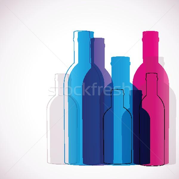 Foto stock: Abstrato · vidro · garrafas · arte · garrafa · cartão