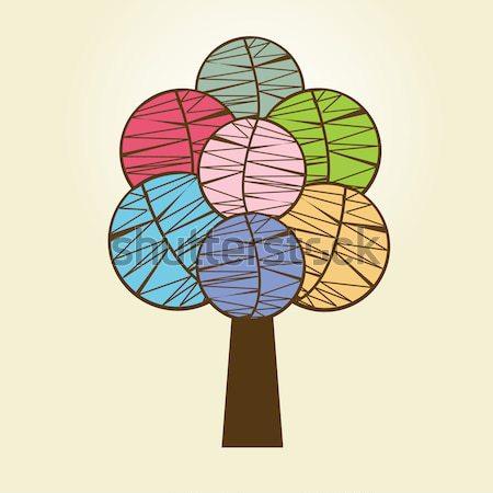 Résumé automne arbre forêt usine bois Photo stock © mcherevan