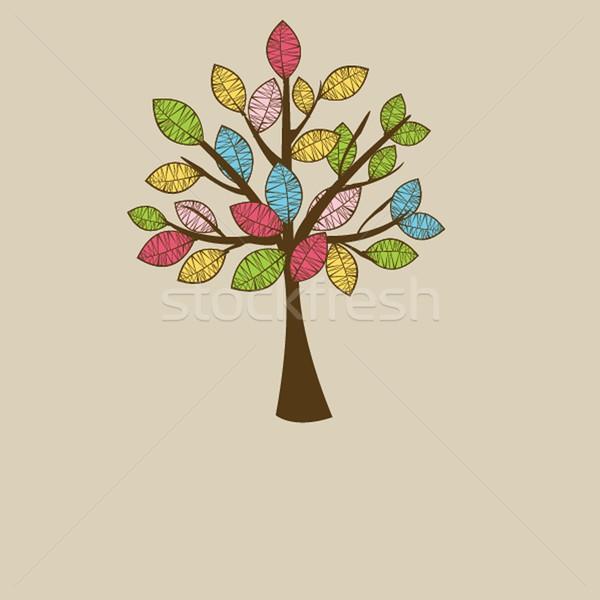 Illustration of beautiful spring background Stock photo © mcherevan
