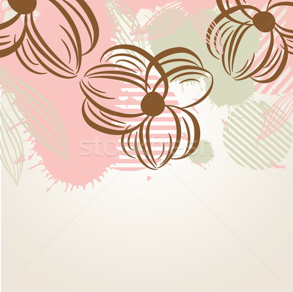 Delicate pattern with pastel colored flowers. Stock photo © mcherevan