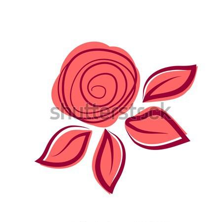 Absztrakt rózsa virág papír terv művészet Stock fotó © mcherevan