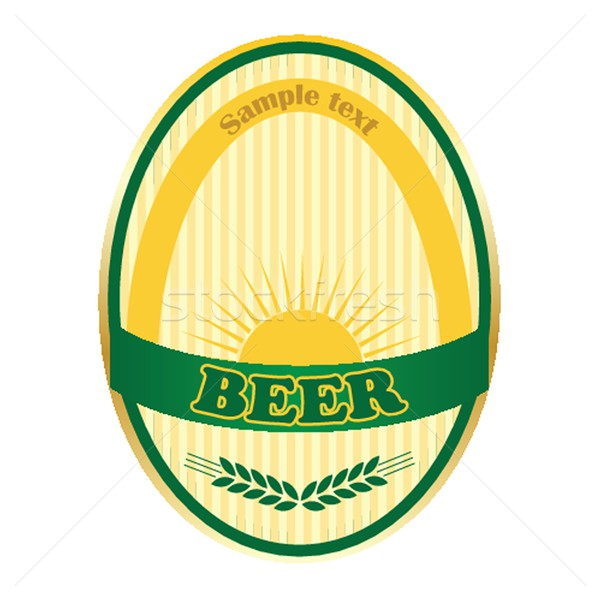 Beer label design. Stock photo © mcherevan