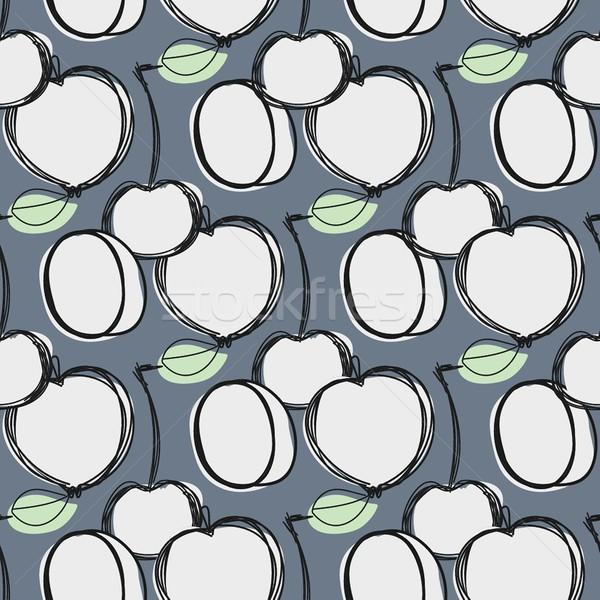 Gyümölcsök végtelen minta terv végtelenített egészség minta Stock fotó © mcherevan