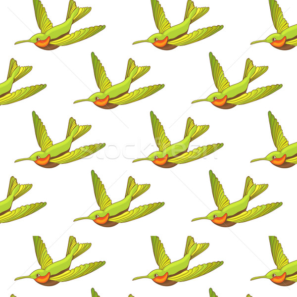 Seamless pattern with green Hummingbirds.  Stock photo © mcherevan