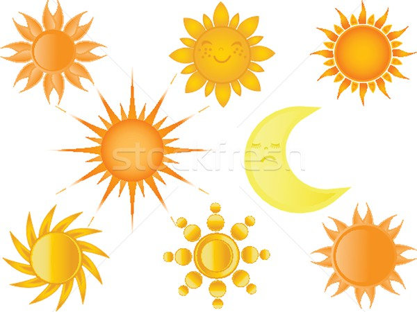 Stock photo: Suns collection. Vector illustration
