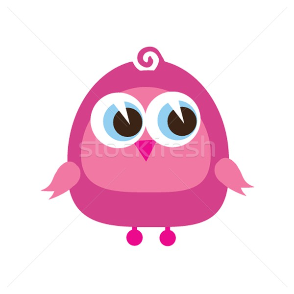 Drawing of a cute cartoon bird standing Stock photo © mcherevan