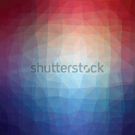 Blue and pink luminositygeometric low poly style illustration graphic background. Stock photo © mcherevan