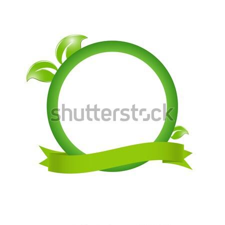 Groene milieuvriendelijk abstract papier bladeren natuur Stockfoto © mcherevan