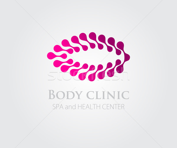 Stock fotó: Absztrakt · rózsaszín · virág · szimbólum · logoterv · szépségszalon · fürdő