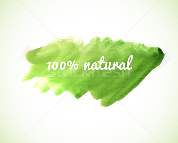 100 természetes vektor kifejezés zöld vízfesték Stock fotó © mcherevan