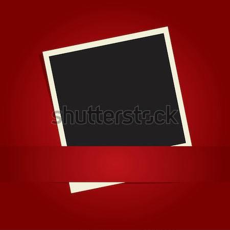 Polaroid papír háttér fekete retro fotó Stock fotó © mcherevan