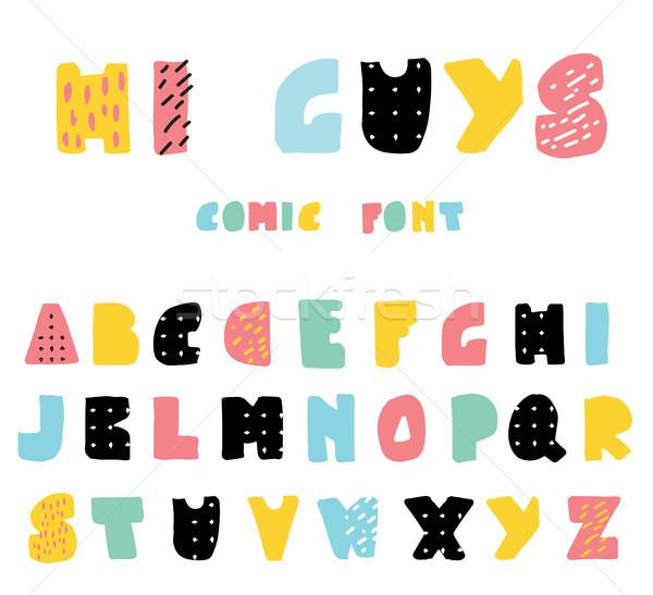 面白い 漫画 スタイル かわいい アルファベット ピンク ストックフォト © mcherevan