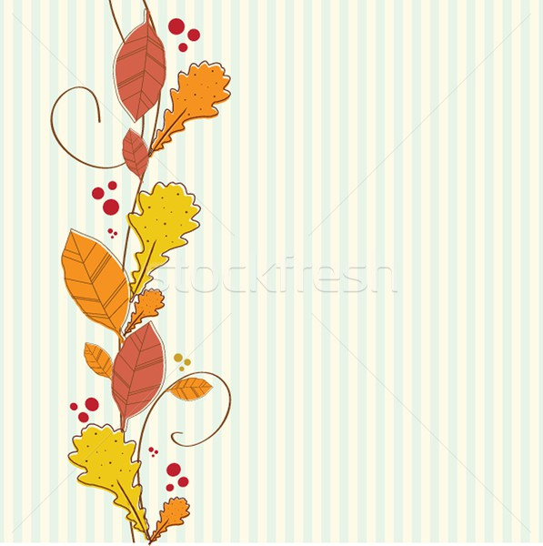 Vertical seamless border with autumn background. Stock photo © mcherevan
