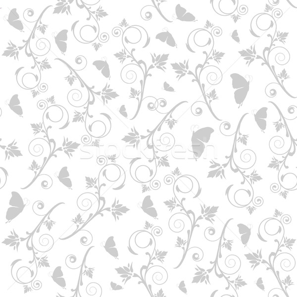 Vector seamless pattern with butterflies and flowers.  Stock photo © mcherevan