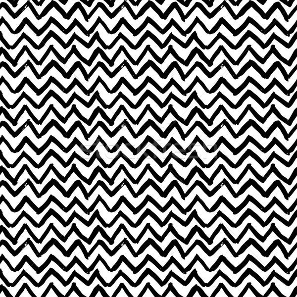 Vector resumen zigzag dibujado a mano Foto stock © mcherevan