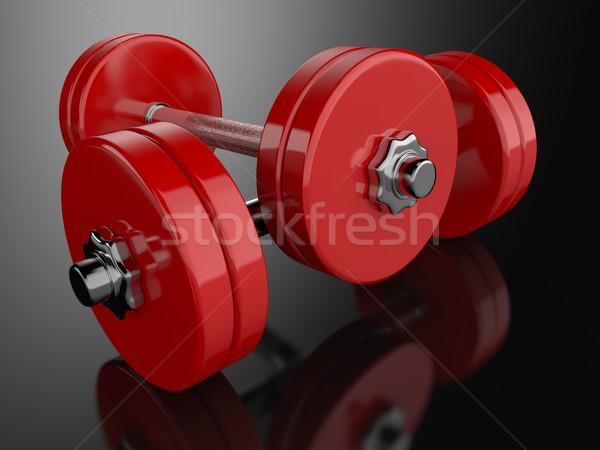 Render pár tükröződő felület sport fitnessz Stock fotó © Mcklog