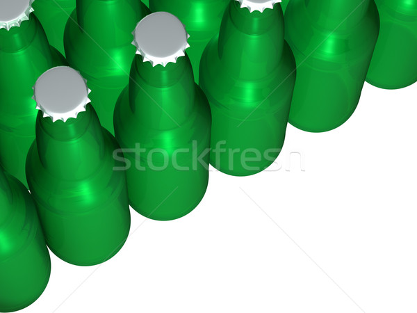 Green Beer Bottles Stock photo © Mcklog