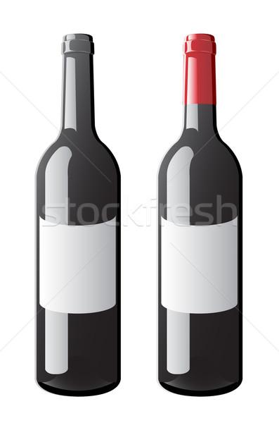 Wine Bottle vector Stock photo © Mcklog