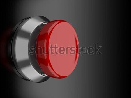 Piros gomb render fekete tükröződő felület Stock fotó © Mcklog