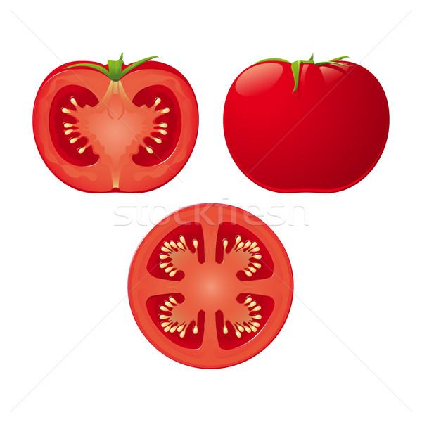 Сток-фото: вектора · томатный · изолированный · два · продовольствие · природы