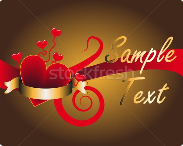 Valentin nap szeretet szalag törődés spirál aranyos Stock fotó © Mcklog