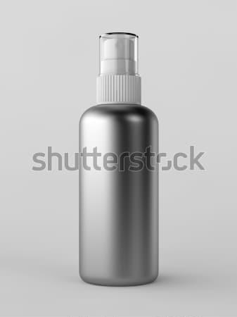 Spray üveg render fémes fehér terv Stock fotó © Mcklog