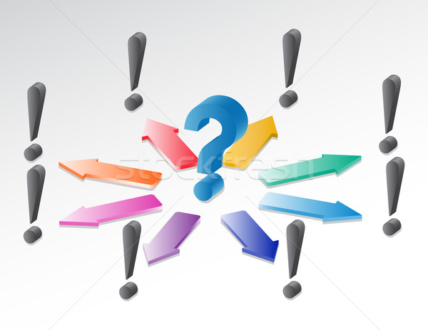 Néhány ötletek kérdés válasz háttér felirat Stock fotó © Mcklog