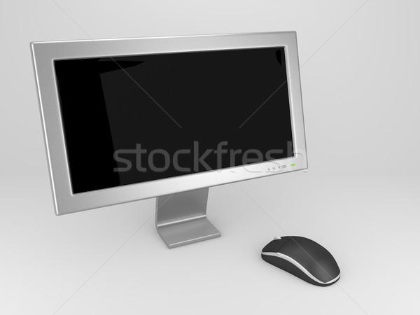 Számítógép egér render képernyő egér iroda internet Stock fotó © Mcklog
