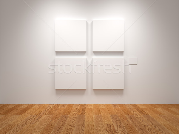 Four Blank Canvas Stock photo © Mcklog