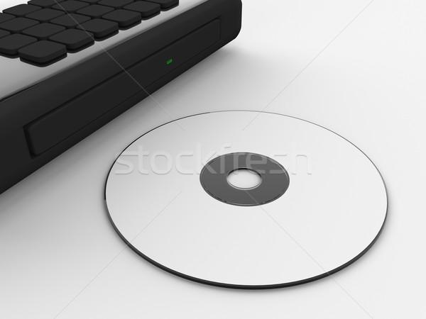 Lemez laptop tálca render CD számítógép Stock fotó © Mcklog