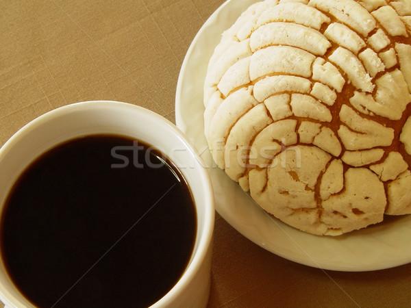 Koffie bakkerij foto scène beker voedsel Stockfoto © Mcklog