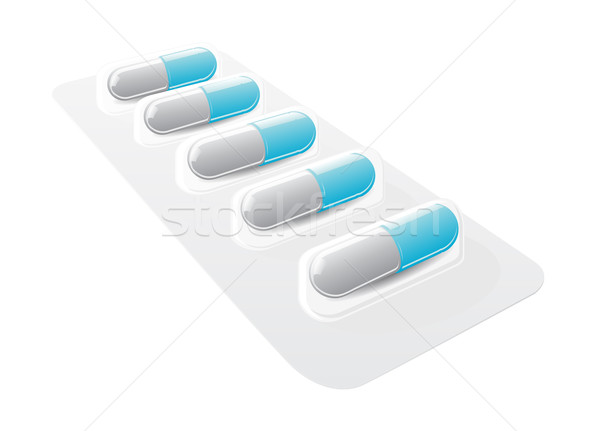 Blister and capsules Stock photo © Mcklog