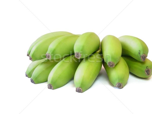 Banán közelkép köteg zöld fehér egészség Stock fotó © Mcklog