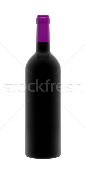 Lila borosüveg render izolált Bordeau üveg Stock fotó © Mcklog