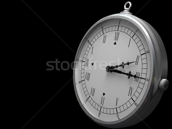 óra ódivatú sötét arc üveg háttér Stock fotó © Mcklog