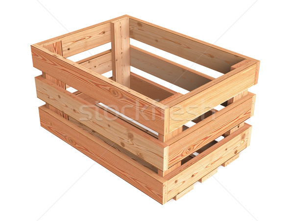 Wooden empty crate boxes for sale in a market place stock for Empty wine crates