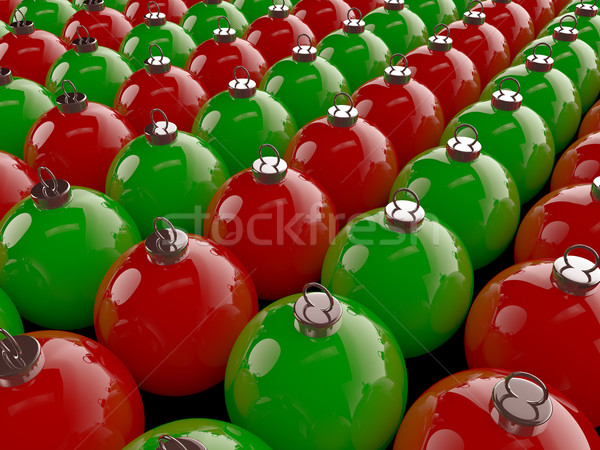 Рождества набор красный зеленый дизайна Сток-фото © Mcklog