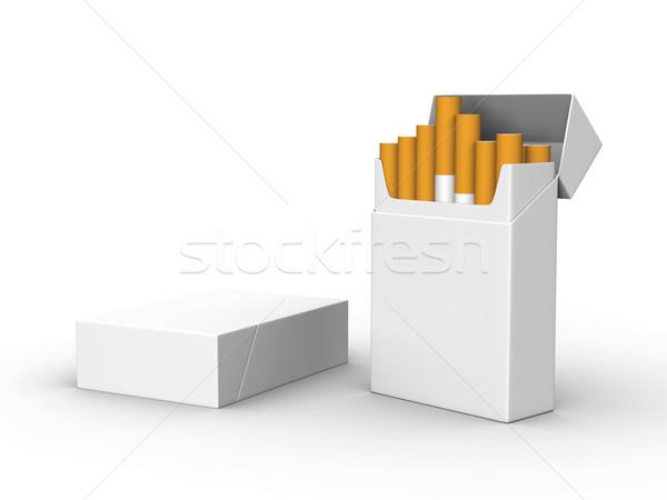 Cigaretta render kettő izolált háttér doboz Stock fotó © Mcklog