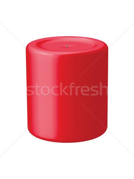 Piros gyertya valósághű izolált terv grafikus Stock fotó © Mcklog