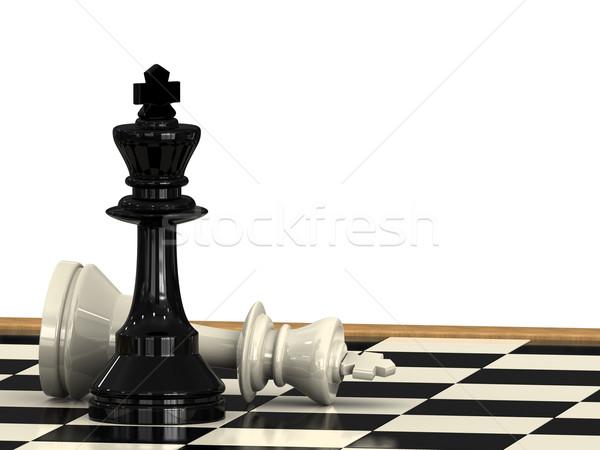 Comprobar mate rey del ajedrez otro madera deporte Foto stock © Mcklog