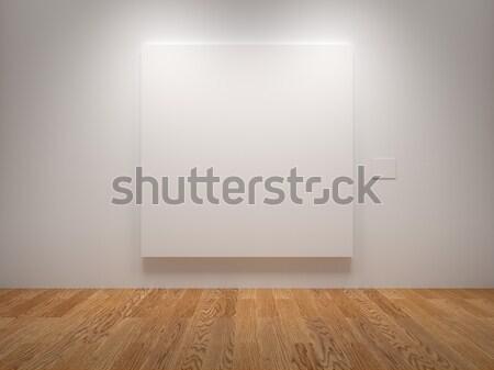 Vászon fehér kiállítás textúra fal fény Stock fotó © Mcklog