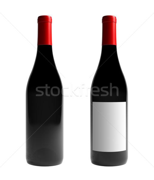Borosüveg render izolált bor terv üveg Stock fotó © Mcklog