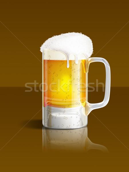 Сток-фото: пива · кружка · иллюстрация · коричневый · свет · фон