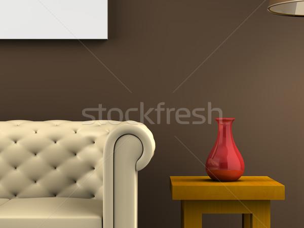 Közelkép dekoráció render jelenet ház textúra Stock fotó © Mcklog