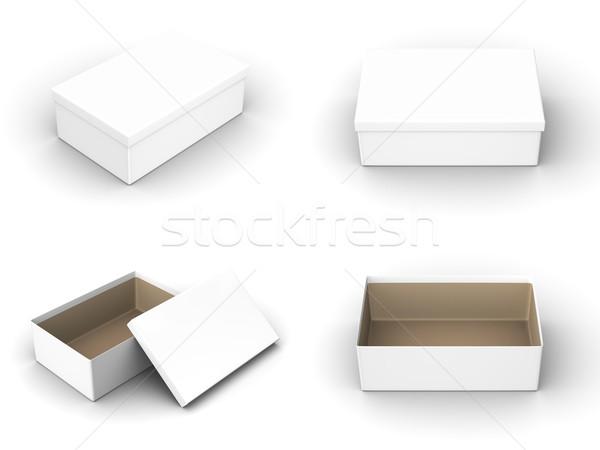 Render különböző izolált iroda papír háttér Stock fotó © Mcklog