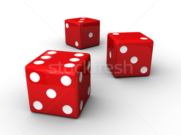 Red Dices Stock photo © Mcklog