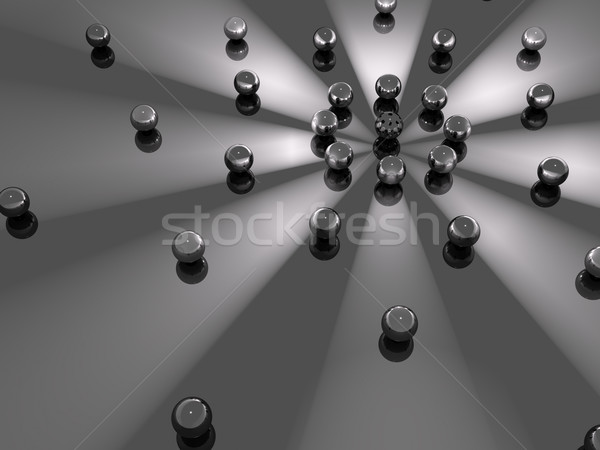 Dark Spheres Orbit Stock photo © Mcklog