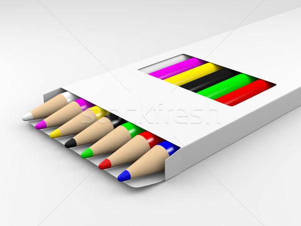 Color pencils Stock photo © Mcklog
